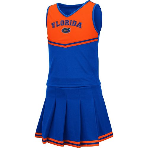 Girls Youth Colosseum Royal Florida Gators Pinky Cheer Dress