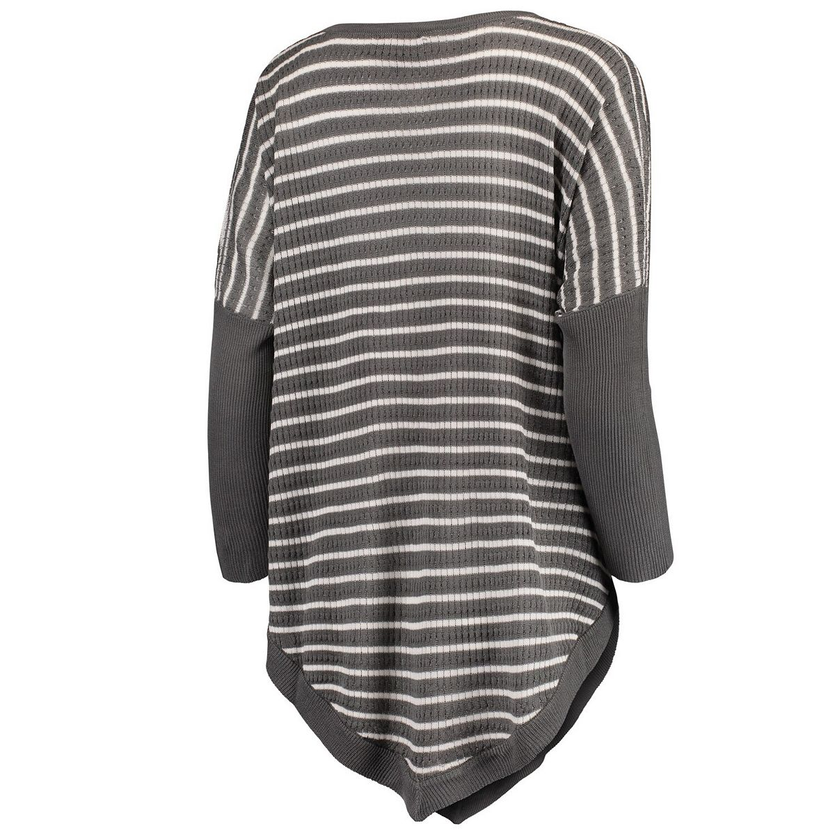Women's Charcoal Ohio State Buckeyes Crossroads Striped Poncho KEwVo