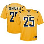 Youth Nike Melvin Gordon Gold Los Angeles Chargers Inverted Game Jersey