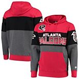 Men's G-III Sports by Carl Banks Red/Charcoal Atlanta Falcons Extreme Special Team Pullover Hoodie