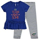 Girls Infant Royal Florida Gators Awesome Dress & Pants Set