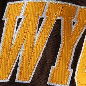 Women's Stadium Athletic Brown Wyoming Cowboys Arched Name Full-Zip Hoodie