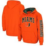 Youth Colosseum Orange Miami Hurricanes 2-Hit Team Pullover Hoodie