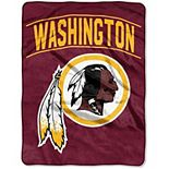 "The Northwest Company Washington Redskins Strong Side 60"" x 80"" Raschel Throw Blanket"