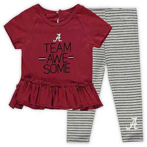 Girls Infant Crimson Alabama Crimson Tide Awesome Dress & Pants Set