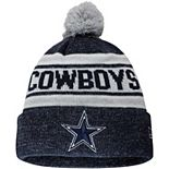 Youth New Era Navy Dallas Cowboys Toasty Cover Cuffed Pom Knit Hat