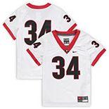 Preschool Nike #34 White Georgia Bulldogs Untouchable Football Jersey