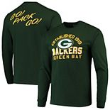 Men's Junk Food Green Green Bay Packers Established Long Sleeve T-Shirt