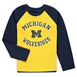Preschool Maize Michigan Wolverines Air Raid Raglan Long Sleeve T-Shirt
