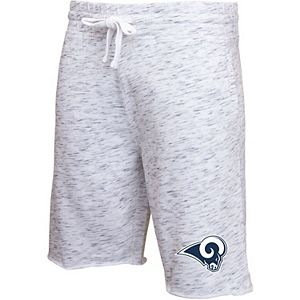 Men's Concepts Sport Heathered Gray Los Angeles Rams Alley Space Dye Jam Shorts