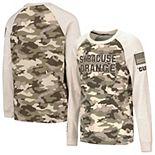 Youth Colosseum Oatmeal Syracuse Orange OHT Military Appreciation Desert Camo Raglan Long Sleeve T-Shirt