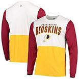 Men's Hands High White/Gold Washington Redskins Change Up Long Sleeve T-Shirt