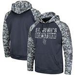 Men's Colosseum Charcoal/Camo St. Johns Red Storm OHT Military Appreciation Digi Camo Raglan Pullover Hoodie