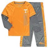 Toddler Colosseum Tenn Orange/Heathered Gray Tennessee Volunteers Bayharts Long Sleeve T-Shirt and Pants Set