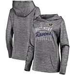 Women's Majestic Gray Baltimore Ravens Showtime Quick Out Pullover Hoodie