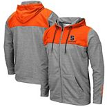 Men's Colosseum Heathered Gray Syracuse Orange Nelson Full-Zip Jacket