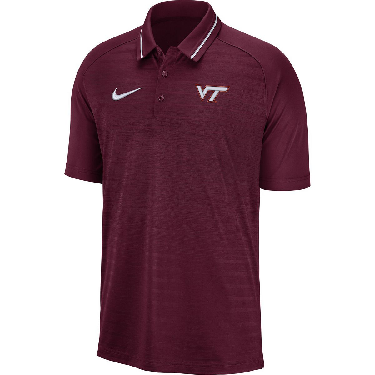 Men's Nike Maroon Virginia Tech Hokies Stripe Performance Raglan Polo ohSj8
