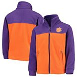 Youth Columbia Purple/Orange Clemson Tigers Flanker II Fleece Full-Zip Jacket