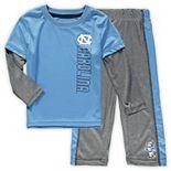 Toddler Colosseum Carolina Blue/Heathered Gray North Carolina Tar Heels Bayharts Long Sleeve T-Shirt and Pants Set