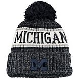 Youth New Era Navy Michigan Wolverines Sport Knit Hat with Pom
