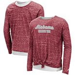 Girls Youth Colosseum Crimson Alabama Crimson Tide Brain Double Layer Front Tie Long Sleeve T-Shirt
