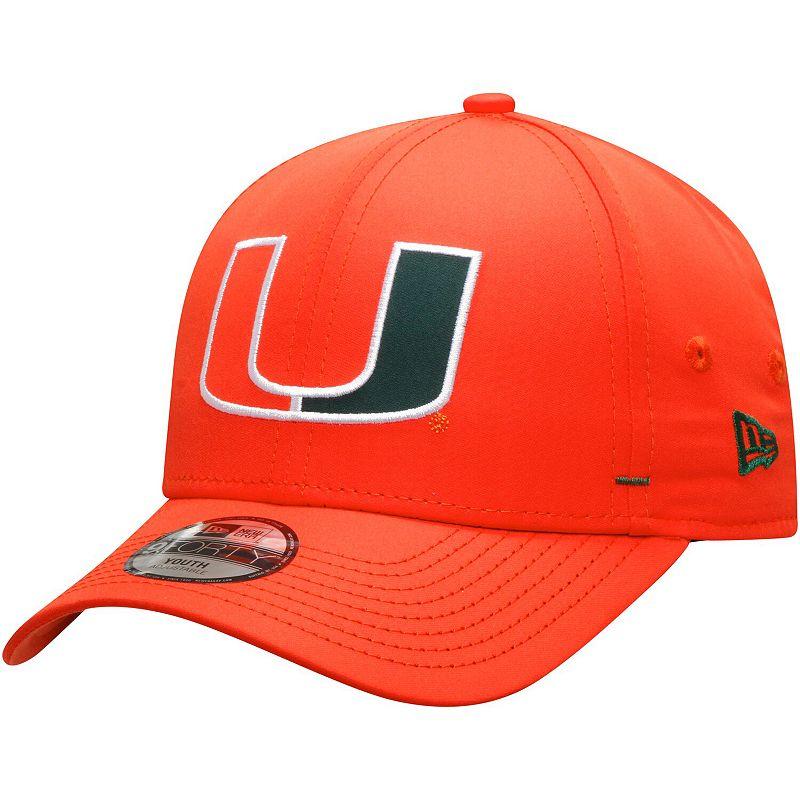 Youth New Era Orange Miami Hurricanes Dash 9FORTY Adjustable Hat