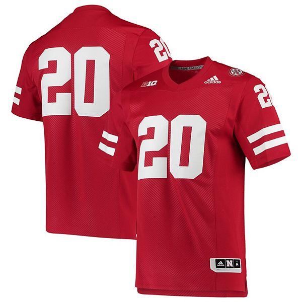 Men's adidas Scarlet Nebraska Cornhuskers Team Premier Football Jersey