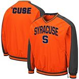 Men's Colosseum Orange Syracuse Orange Duffman Raglan V-Neck Pullover Windbreaker