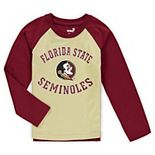 Preschool Gold Florida State Seminoles Air Raid Raglan Long Sleeve T-Shirt