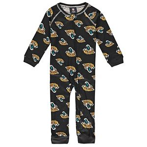 Toddler Black Jacksonville Jaguars Piped Raglan Full-Zip Jumper