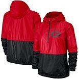 Women's Nike Red/Black Georgia Bulldogs Woven Anorak Half-Zip Pullover Jacket