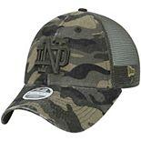 Women's New Era Camo Notre Dame Fighting Irish Trucker 9TWENTY Adjustable Hat