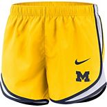 Women's Nike Maize Michigan Wolverines Tempo Performance Shorts
