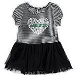 Girls Infant Black/White New York Jets Celebration Tutu Sequins Dress