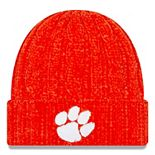 Women's New Era Orange Clemson Tigers Velour Cuffed Knit Hat