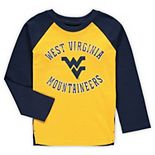 Preschool Gold West Virginia Mountaineers Air Raid Raglan Long Sleeve T-Shirt