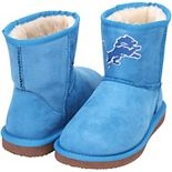 Women's Cuce Blue Detroit Lions The Rookie Mini Boots