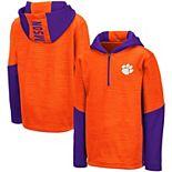Youth Colosseum Orange Clemson Tigers Newt Quarter-Zip Hoodie