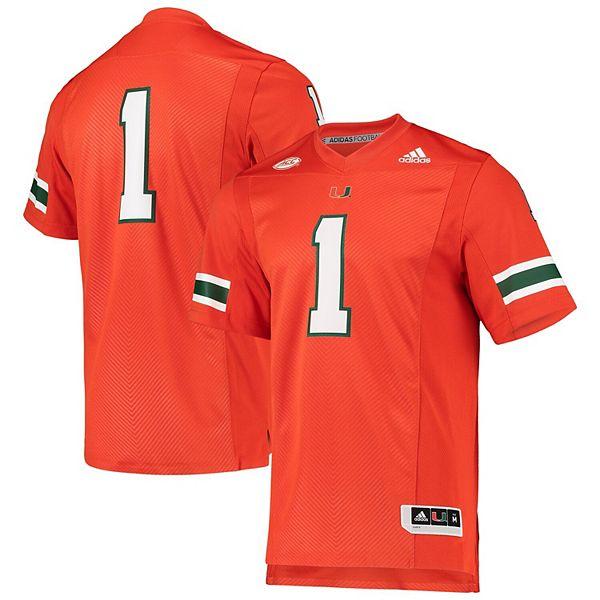 Men's adidas Orange Miami Hurricanes Team Premier Football Jersey