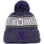 Youth New Era Purple Northwestern Wildcats Sport Knit Hat with Pom