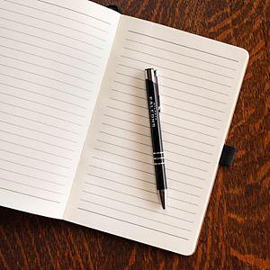 Sparo Atlanta Falcons Laser-Engraved Notepad & Pen Gift Set
