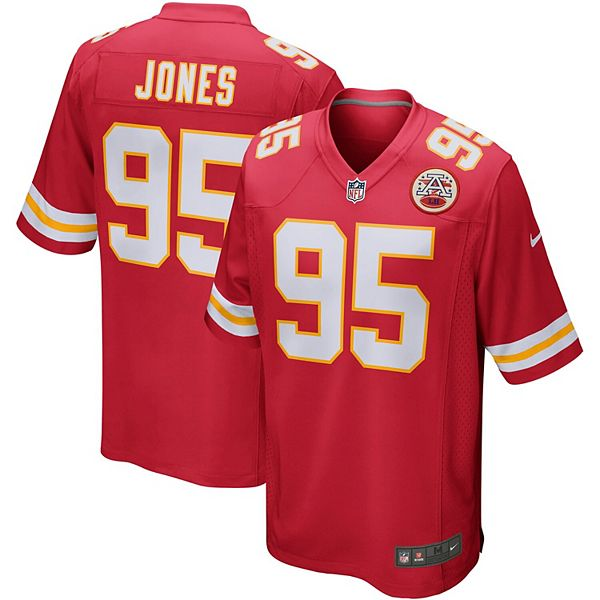 Men's Nike Chris Jones Red Kansas City Chiefs Player Game Jersey