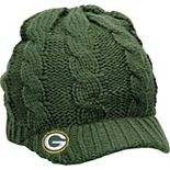 Women's New Era Green Green Bay Packers Arctic Blast Cable Cadet Beanie