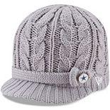 Women's New Era Gray Dallas Cowboys Button Blast Knit Hat