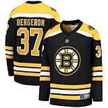 Youth Fanatics Branded Patrice Bergeron Black Boston Bruins Replica Player Jersey