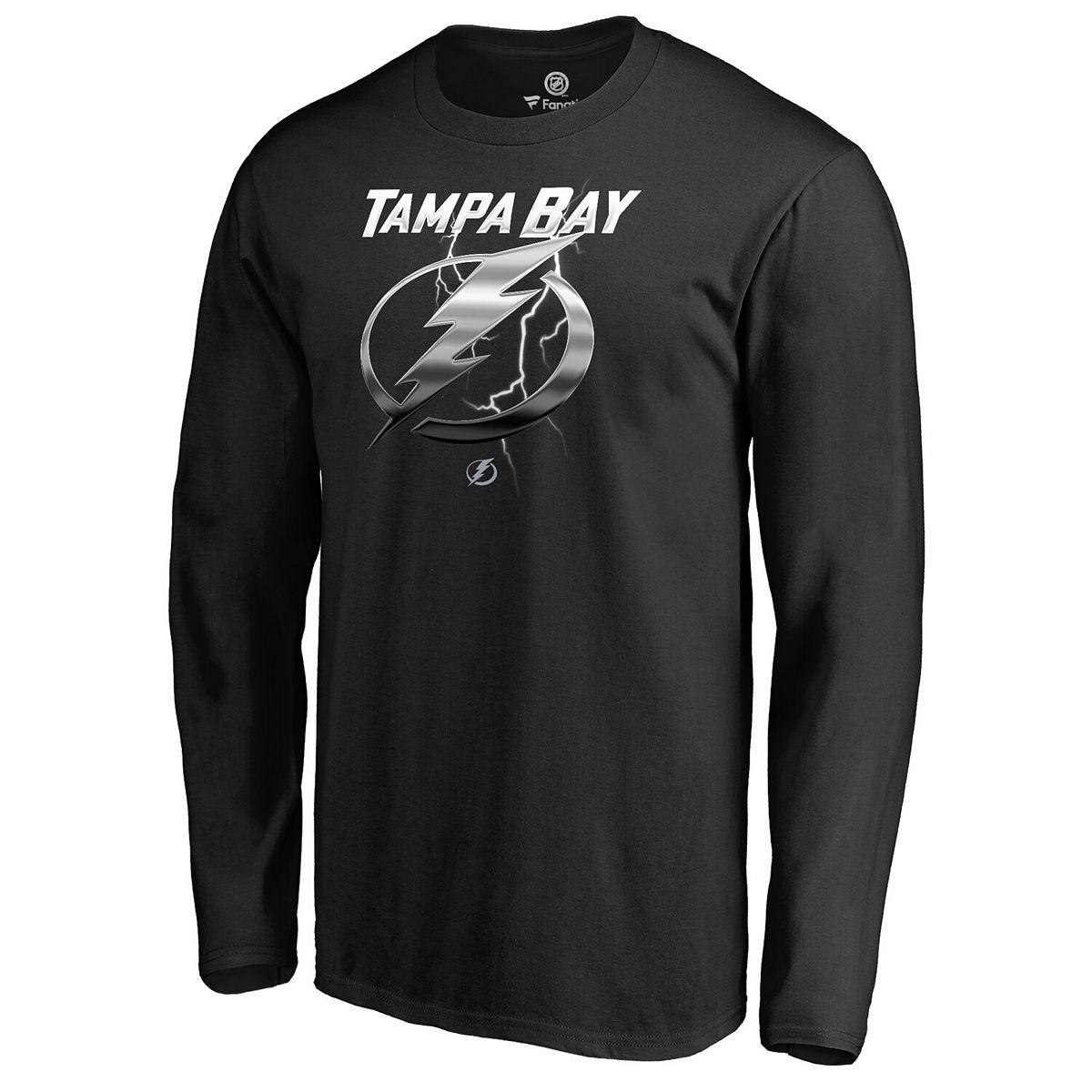 Men's Fanatics Branded Black Tampa Bay Lightning Team Midnight Mascot Long Sleeve T-Shirt gvB7C