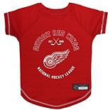 Detroit Red Wings Hockey Dog T-Shirt
