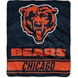 """The Northwest Chicago Bears 50"""" x 60"""" Stabilize Raschel Plush Throw Blanket"""