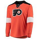 Men's adidas Orange Philadelphia Flyers Platinum Long Sleeve Jersey T-Shirt