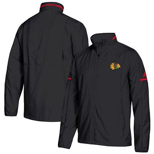 Men's adidas Black Chicago Blackhawks Rink Full-Zip Jacket